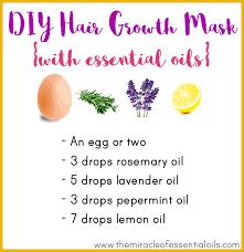diy essential oil hair growth mask
