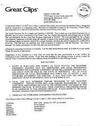 download pdf great clips salon ufoc 1 freefranchisedocs salon manager description