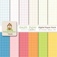Digital Graph Paper Scrapbooking Paper Pack Instant