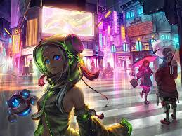 The colours he uses makes it seem like you're in some sort of. Cyberpunk Anime Girl Wallpapers Top Free Cyberpunk Anime Girl Backgrounds Wallpaperaccess