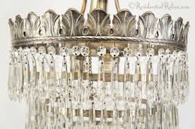 silver plated wedding cake crystal chandelier circa 1920s