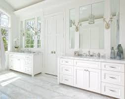 view gallery bathroom lighting 13. This Pure White Bathroom Features Two Large Mirrors On Either Side Of The  Double Doors, View Gallery Lighting 13