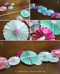 how to make paper fan garland super cute and easy to make