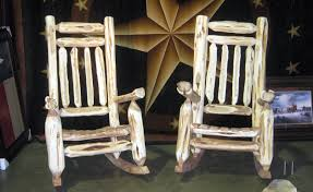 rustic wooden rocking chairs. Modren Wooden Rustic Mountain Cedar Rocking Chairs And Dining From Hill Contry Log  On Wooden A