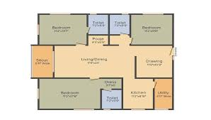 3 bhk 3t apartment with size 1834 sqft