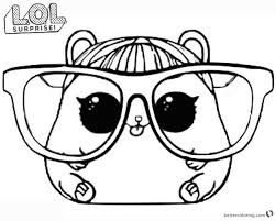 Lol Surprise Doll Coloring Pages Series Cherry Ham Wurzen