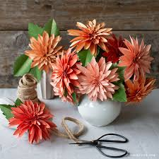 Dahlia Flower Making With Paper Video Tutorial New Frosted Paper Dahlia Flower Kit Lia