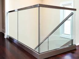 glass railing view larger image a glass railings glass deck railing systems home depot