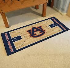 auburn tigers basketball court runner area rug mat
