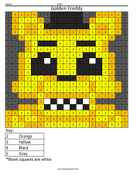 Golden Freddy Free Coloring Page Coloring Squared
