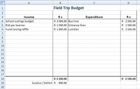 Sample Budget Worksheet Beauteous Field Trip Budget