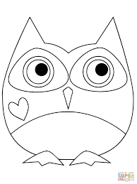 Small Picture Valentine Day Owl Hugging a Heart coloring page Free Printable