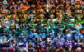 awesome dota 2 poster all heroes color sorted dota2 cingular