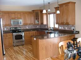 kitchen tile backsplash ideas with oak cabinets