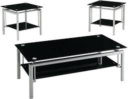 glasetal coffee tables creative black glass coffee table set glass top metal side tables