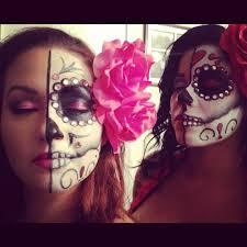 half face sugar skull makeup mugeek vidalondon