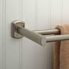 double towel bar brushed nickel. 12 Inspiration Gallery From Simple Double Towel Bar Brushed Nickel