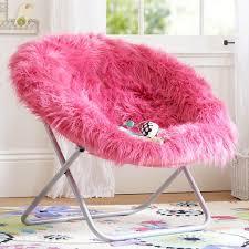 pink fur rific faux fur hang a round chair