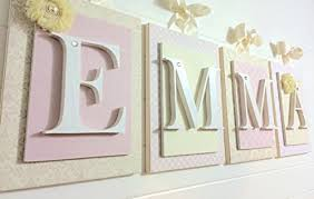 Wood Letter Wall Decor For good Nursery Wall Letters Wooden Letters Nursery Style