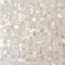 ivy hill tile mother of pearl white square pearl shell mosaic floor and wall tile