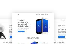 Page Design Templates 50 Best App Landing Page Templates 2019 Design Shack