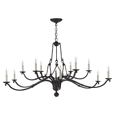 allegra large two tiered chandelier in aged iron