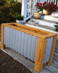 Large Wooden Boxes To Decorate Decoration Wooden Flower Containers Wood Deck Planter Boxes 88