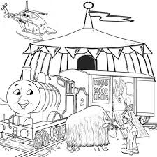 Thomas The Train Coloring Pages For Kids Printable Cartoon