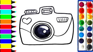 Small Picture Digital Camera Coloring Pages Drawing DSLR Art Colors For Kids