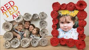 diy newspaper roll frames gift for father s day or mother s day you