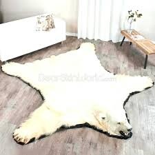 fake bear rug for nursery white bear rug foot polar bear rug white bear rugs faux