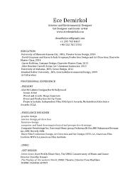 Dorothy Parker Resume Ece demirkol set designer and scenic artist resume by Ece Demirkol 90