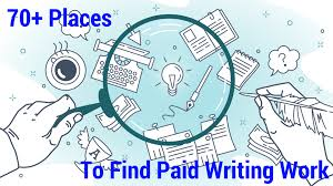 find a writing job that pays over