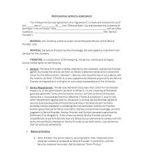 Sample General Consultant Services Agreement Form Contract For ...