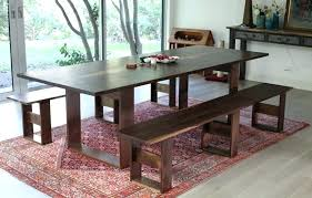table bench with back rustic dining
