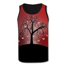 Amazon Com Artistic Heart Love Tree Mens Tank Tops Casual