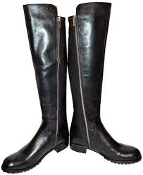 michael kors wide calf boots tall black leather flat riding stretch booties stockard