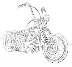 Chopper Motorfiets Kleurplaat Gratis Kleurplaten Printen