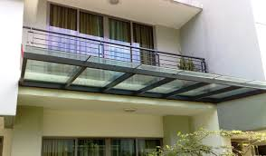 glass awning roof