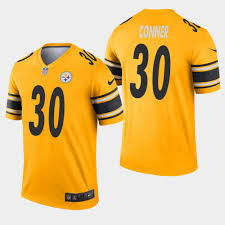 30 James Steelers Jersey Gold wholesale Sale Pittsburgh On Cheap Conner Inverted for Legend