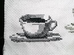 一色クロスステッチ コーヒーカップ やりたいことやっちゃおう