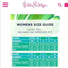 Lilly Pulitzer Size Chart Lilly Pulitzer