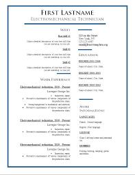 Resume Format Word – Rekomend.me