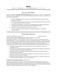 Resume Example Summary Customer Service Professional Experience In Account Management 55