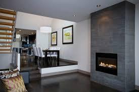 interior black wool rug round varnished wood end table corner fireplace decorating ideas beige varnished