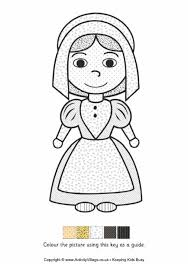 thanksgiving pilgrim girl coloring pages. Wonderful Girl Pilgrim Girl  Colour By Pattern To Thanksgiving Coloring Pages I