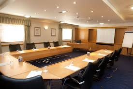 conference room design ideas office conference room. Modern Office Meeting Room Design With Brown Laminated Wooden U Shaped Table Plus Black Leather Conference Ideas