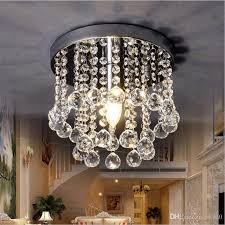 15cm 20cm 25cm crystal chandelier mini ceiling light fixture small clear crystal re lamp for aisle stair hallway corridor porch light modern pendant