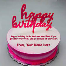 Free Your Name Birthday Cake Mom Wishes Greeting Cards