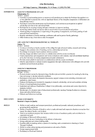 Professor Resume Examples Adjunct Professor Resume Samples Velvet Jobs 17